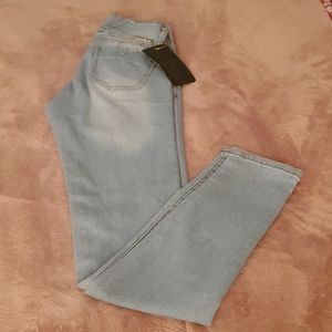 Light Blue Faded Skinny Jeans